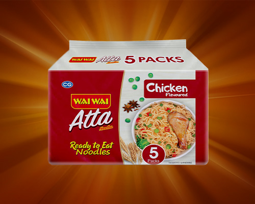 Atta Noodle Chicken Flavored Packet Of 5