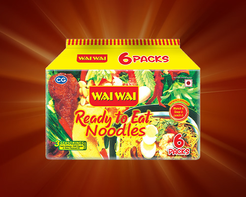 WAI WAI Ready To Eat Chicken Noodle Packet of 6